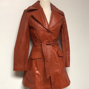 Vintage Genuine Leather Coat